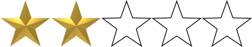 Image result for 2 stars out of 5
