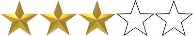 Image result for 3 out of 5 stars rating