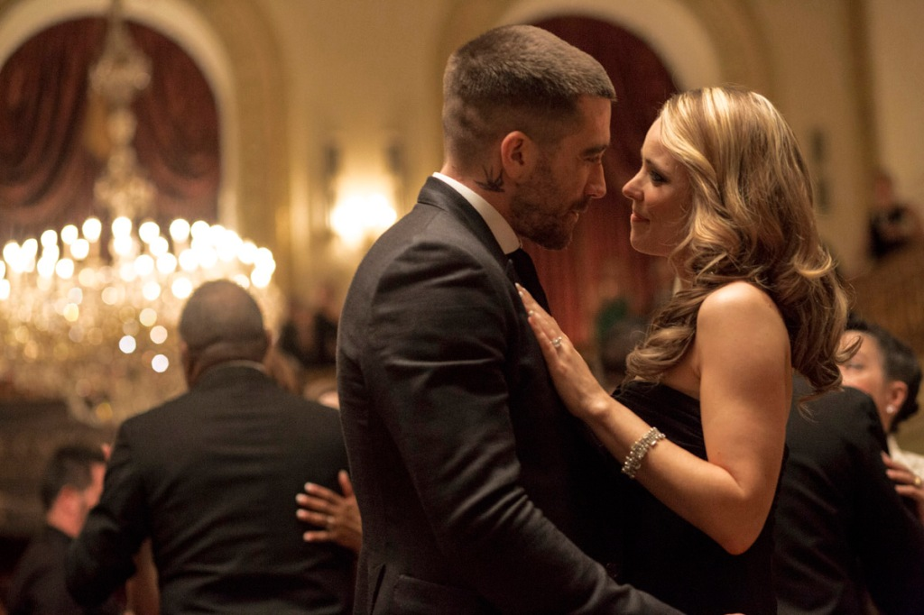 Billy and Maureen dance at the gala benefit; their last happy moments before tragedy strikes.  JG, RM
