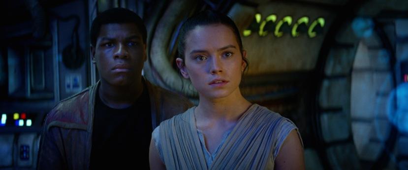 Star Wars: The Force Awakens..L to R: Finn (John Boyega) and Rey (Daisy Ridley)..Ph: Film Frame..© 2014 Lucasfilm Ltd. & TM. All Right Reserved..