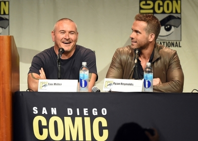 director Tim Miller and Ryan Reynolds -DEADPOOL_