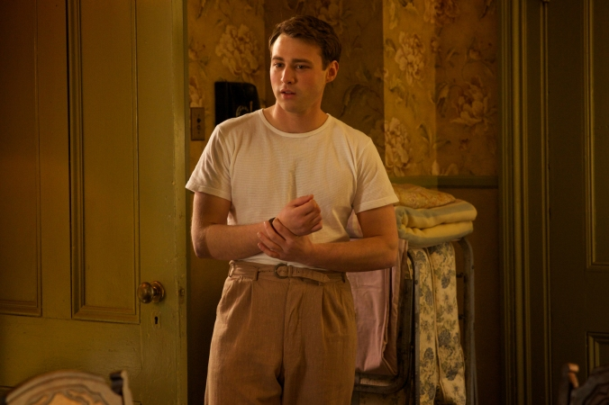 """Emory Cohen as """"Tony"""" in BROOKLYN. Photo by Kerry Brown. © 2015 Twentieth Century Fox Film Corporation All Rights Reserved"""