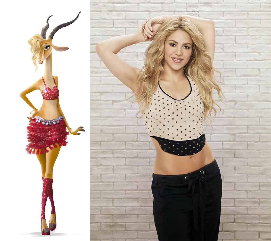 Shakira Sings Theme Song Voices Gazelle Character In Zootopia Pelikula Mania