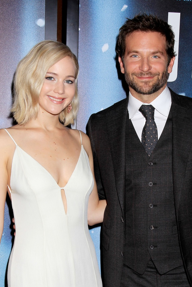 """- New York, NY - 12/13/15 - Twentieth Century Fox Presents the World Premiere of """"JOY"""" -PICTURED: Jennifer Lawrence, Bradley Cooper -PHOTO by: Dave Allocca/Starpix -FILENAME: DA_15_010050133.JPG -LOCATION: The Ziegfeld Theatre Startraks Photo New York, NY For licensing please call 212-414-9464 or email sales@startraksphoto.com Image may not be published in any way that is or might be deemed defamatory, libelous, pornographic, or obscene. Please consult our sales department for any clarification or question you may have. Startraks Photo reserves the right to pursue unauthorized users of this image. If you violate our intellectual property you may be liable for actual damages, loss of income, and profits you derive from the use of this image, and where appropriate, the cost of collection and/or statutory damages."""