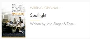 Original Screenplay Spotlight