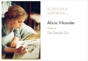 Supporting Actress Alicia Vikander