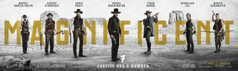Image result for the magnificent seven 2016 banner