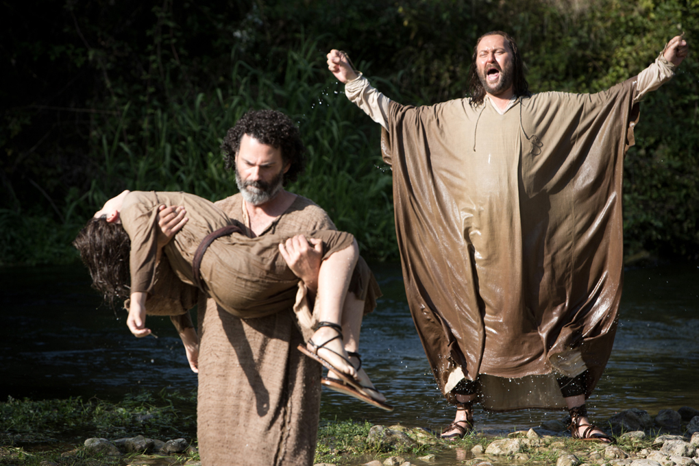 Adam Greaves-Neal, Vincent Walsh and Christian McKay in THE YOUNG MESSIAH