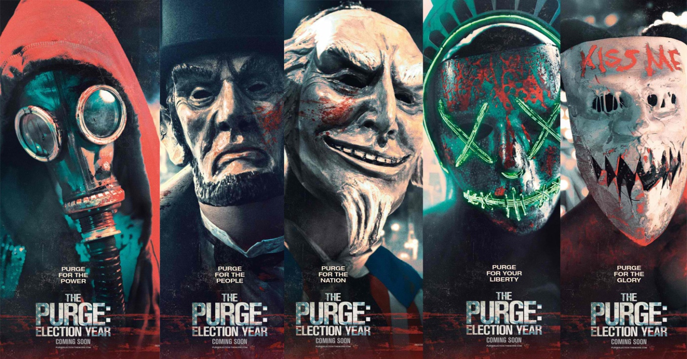 The Purge Election Year Poster Wallpapers: 'The Purge: Election Year' Campaigns With New Posters