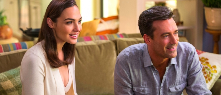 gal gadot and john hamm in KEEPING UP WITH THE JONESE