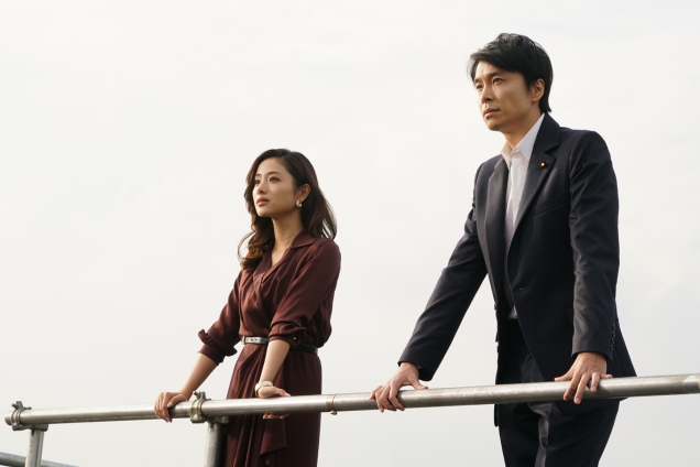 satomi ishihara and hiroki hasegawa in GODZILLA RESURGENCE