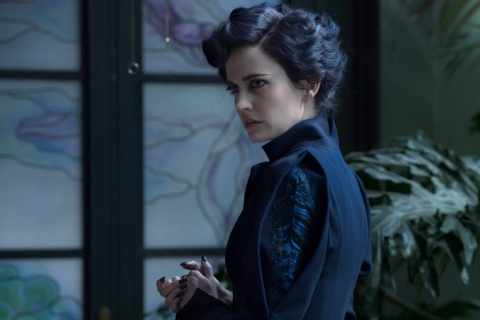 DF-04244 - Eva Green portrays Miss Peregrine, who oversees a magical place that is threatened by powerful enemies. Photo Credit: Jay Maidment.