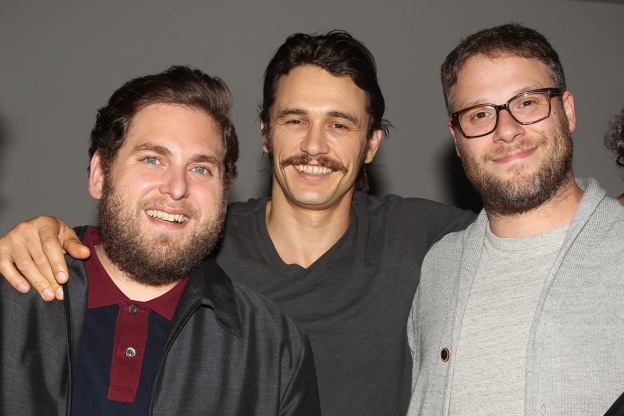 "New York, NY - 8/4/16 - Jonah Hill, James Franco and Seth Rogen at the New York Special Screening of Columbia Pictures and Annapurna Pictures ""Sausage Party"" After Party."