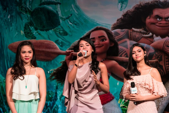 SINGAPORE - NOV 8: Moana Press Conference. Southeast Asian singers - Janella Salvador (Philippines), Maudy Ayunda (Indonesia) and Myra Molloy (Thailand)