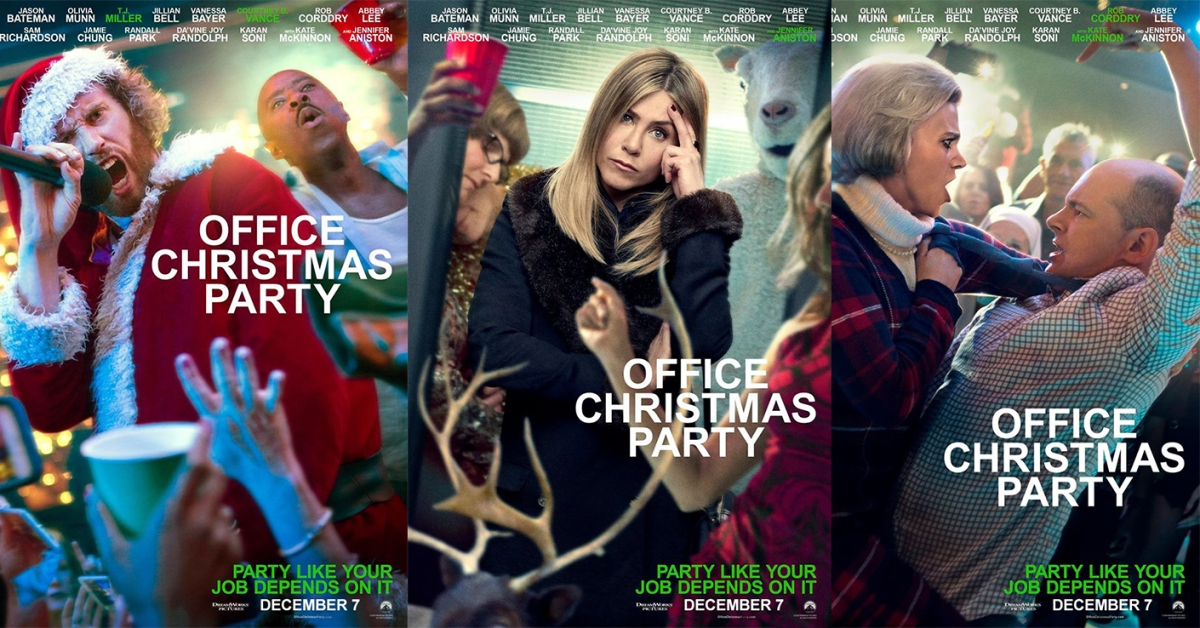 Office Christmas Party Sends Out Character Posters Pelikula Mania