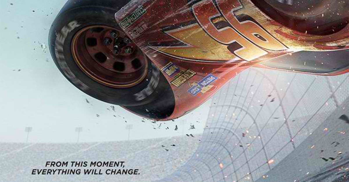 Cars 3 teaser posters crash online pelikula mania for 3 by 3 prints