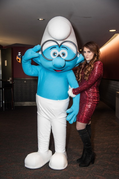 Backstage with Brainy and Meghan Trainor at Jingle Ball 2016 for Columbia Pictures and Sony Picture Animations' SMURFS: THE LOST VILLAGE.