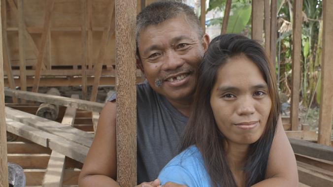 couple Edgardo & Gemma Almazan _WE CALL HER YOLANDA