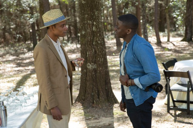 """(L to R) Logan (LAKEITH STANFIELD) meets Chris (DANIEL KALUUYA) in Universal Pictures' """"Get Out,"""" a speculative thriller from Blumhouse (producers of """"The Visit,"""" """"Insidious"""" series and """"The Gift"""") and the mind of Jordan Peele. When a young African-American man visits his white girlfriend's family estate, he becomes ensnared in a more sinister real reason for the invitation."""