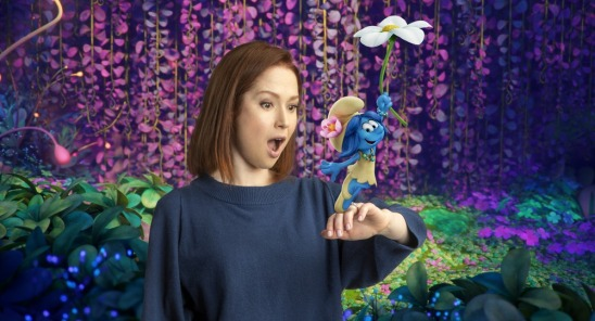 """Ellie Kemper voices """"SmurfBlossom"""" in Columbia Pictures and Sony Pictures Animation's SMURFS: THE LOST VILLAGE."""