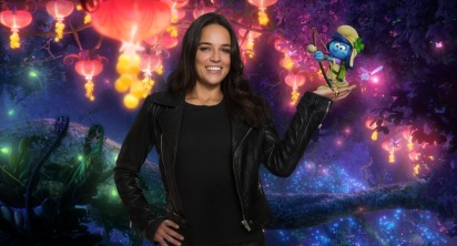 "Michelle Rodriguez voices ""SmurfStorm"" in Columbia Pictures and Sony Pictures Animation's SMURFS: THE LOST VILLAGE."