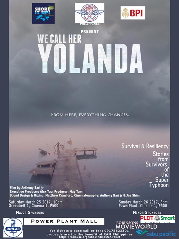 WE CALL HER YOLANDA - poster