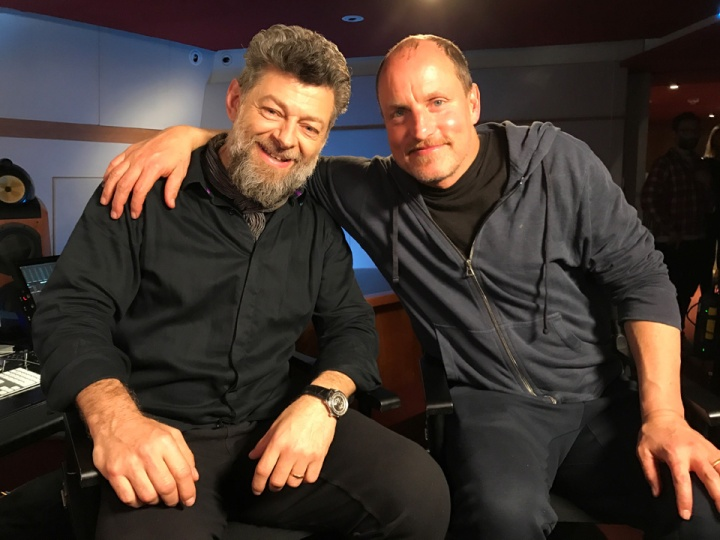 andy serkis and woody harrelson in WAR OF THE PLANET OF THE APES_ live q&a facebook