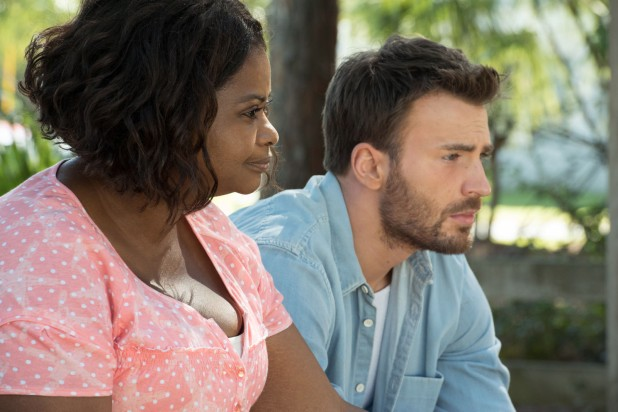"Octavia Spencer as ""Roberta"" and Chris Evans as ""Frank Adler"" in the film GIFTED. Photo by Wilson Webb. © 2017 Twentieth Century Fox Film Corporation All Rights Reserved."
