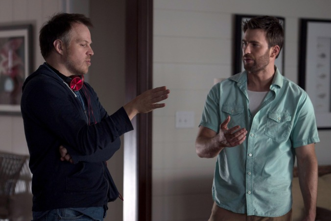 Marc Webb and Chris Evans in the film GIFTED. Photo by Wilson Webb. © 2017 Twentieth Century Fox Film Corporation All Rights Reserved.