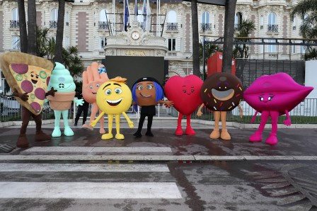 CANNES, FRANCE - MAY 16: `The Emoji Movie' takes on Cannes at the start of the 70th Cannes Film Festival on May 16, 2017 in Cannes, France. (Photo by Neilson Barnard/Getty Images for Sony Pictures)