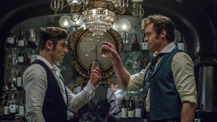 Zac Efron and Hugh Jackman in THE GREATEST SHOWMAN