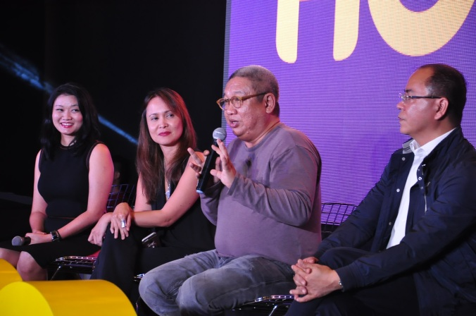 During the panel discussion Allison Chew HOOQ Reg Head of Brand and Comm, Jane Cruz-Walker HOOQ Country Manager, Director Erik Matti, and Jeff Remigio HOOQ Content and Programming Head 2