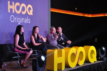During the panel discussion Allison Chew HOOQ Reg Head of Brand and Comm, Jane Cruz-Walker HOOQ Country Manager, Director Erik Matti, and Jeff Remigio HOOQ Content and Programming Head 3