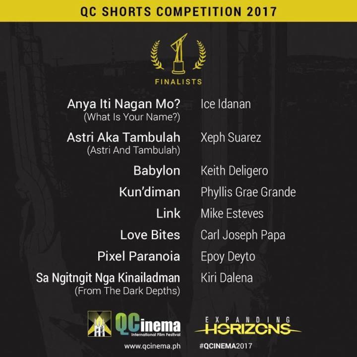 QCinema 2017 Shorts