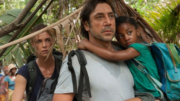 charlize theron and javier bardem in THE LAST FACE