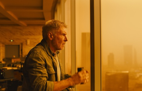 Harrison Ford in Blade Runner 2049 in association with Columbia Pictures, domestic distribution by Warner Bros. Pictures and international distribution by Sony Pictures Releasing International.