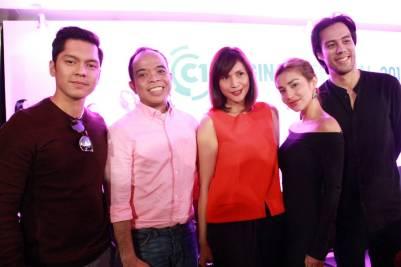 Carlo Aquino, Cinema One Originals festival director Ronald Arguelles, Agot Isidro, Nathalie Hart and Rafa Siguion Reyna