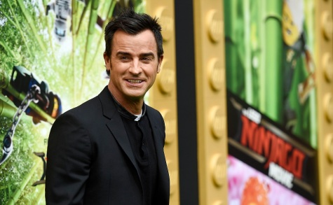 "Justin Theroux, a cast member in ""The LEGO Ninjago Movie,"" poses at the premiere of the film at the Regency Village Theatre Westwood on Saturday, Sept. 16, 2017, in Los Angeles. (Photo by Chris Pizzello/Invision/AP)"