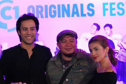 Rafa Siguion Reyna and Nathalie Hart with Historiographika Errata director Richard Somes