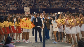 a scene in BATTLE OF THE SEXES