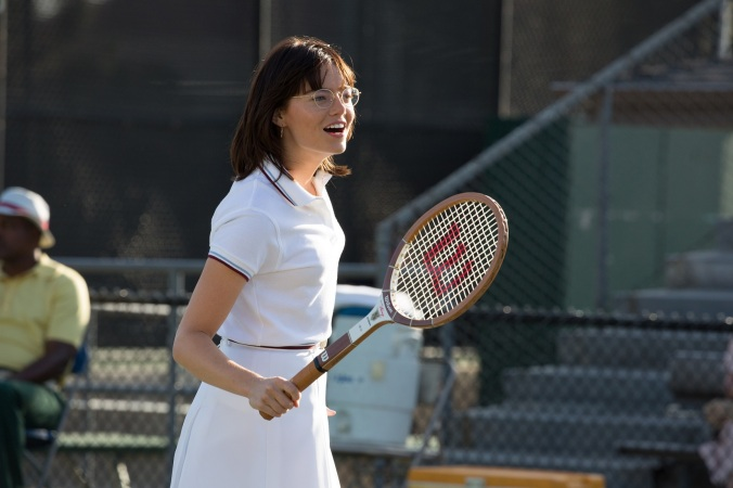Emma Stone in the film BATTLE OF THE SEXES. Photo by Melinda Sue Gordon. © 2017 Twentieth Century Fox Film Corporation All Rights Reserved