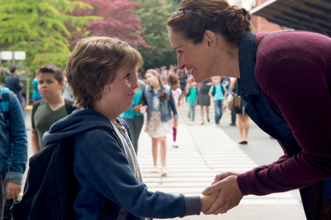 jacob tremblay & julia roberts in WONDER