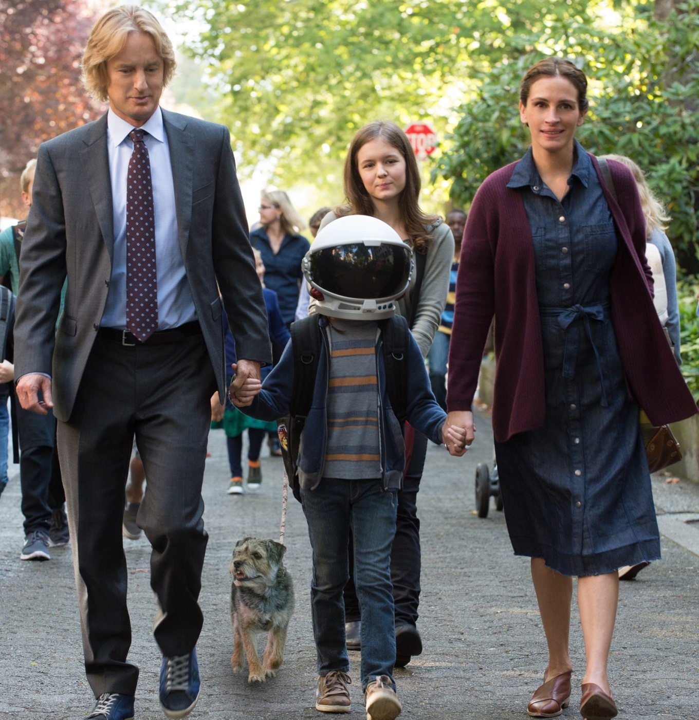 owen wilson, jacob tremblay, julia roberts WONDER