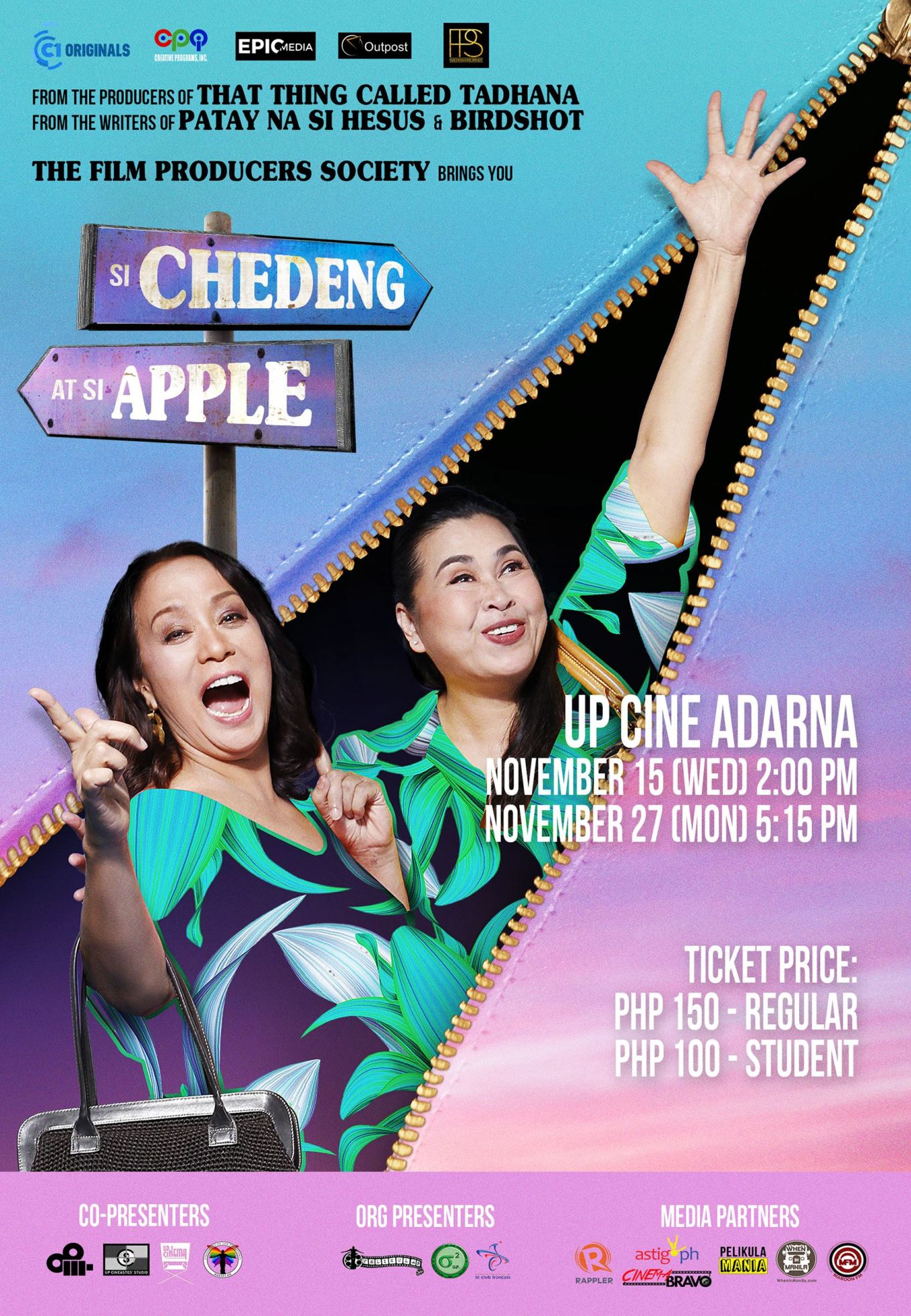 Si Chedeng at Si Apple UP Poster