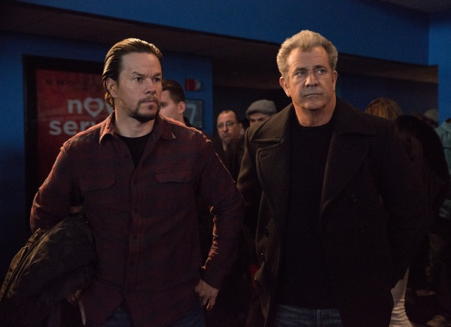 Mark Wahlberg plays Dusty and Mel Gibson plays Kurt in Daddy's Home 2 from Paramount Pictures.