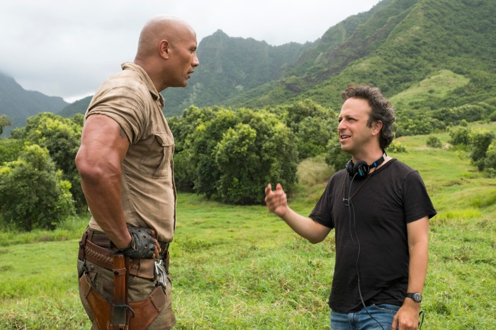 Dwayne Johnson and Jake Kasdan on set - JUMANJI: WELCOME TO THE JUNGLE.