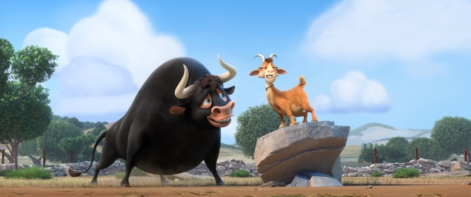 FERDINAND voiced by John Cena and Lupe voiced by Kate McKinnon