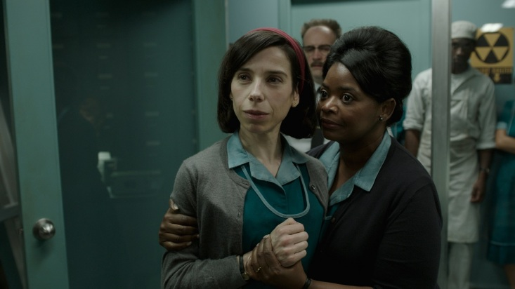 Sally Hawkins and Octavia Spencer in the film THE SHAPE OF WATER. Photo courtesy of Fox Searchlight Pictures. © 2017 Twentieth Century Fox Film Corporation All Rights Reserved