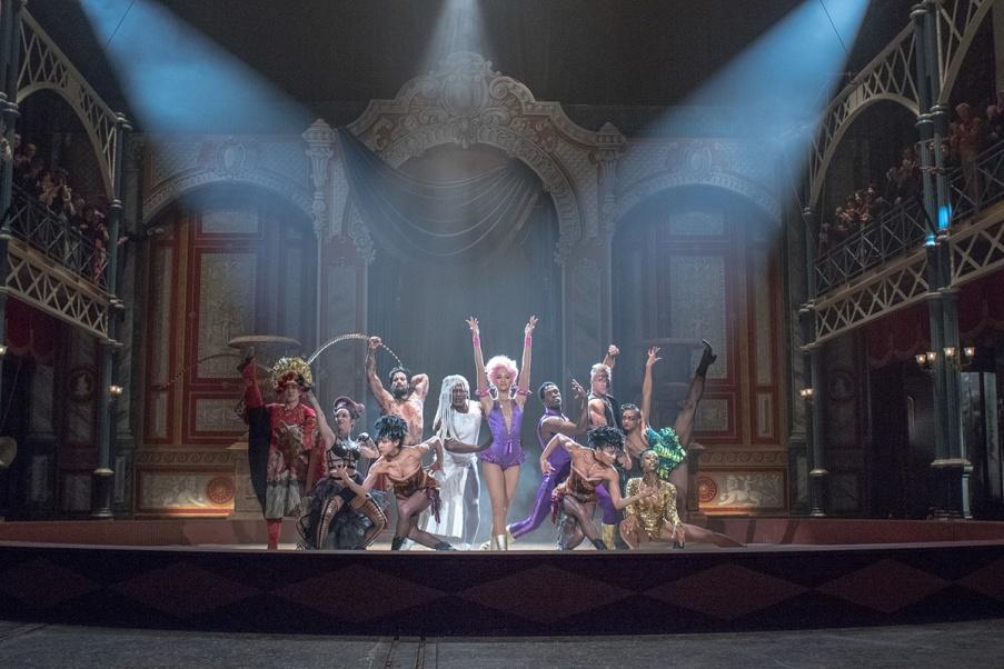 """Zendaya, center, stars in Twentieth Century Fox's """"The Greatest Showman."""""""