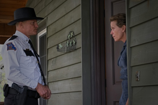 Woody Harrelson and Frances McDormand in the film THREE BILLBOARDS OUTSIDE EBBING, MISSOURI. Photo by Merrick Morton. © 2017 Twentieth Century Fox Film Corporation All Rights Reserved